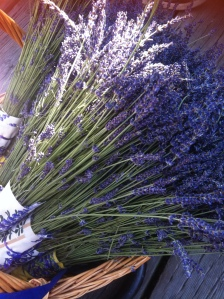 bunches lavendin flowers