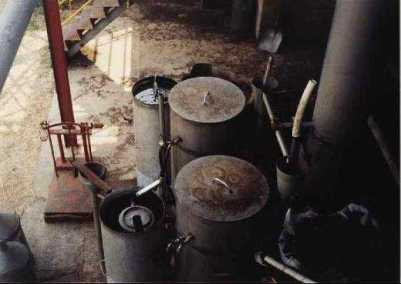 distillation plant for the lavender last step